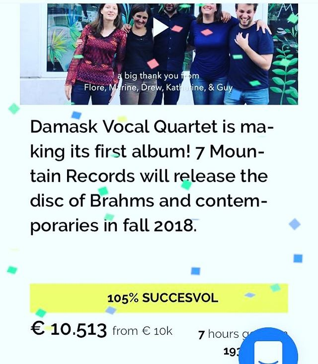 WE DID IT!!! Our heartfelt thanks to everyone who gave and wished us well. See you at the end of November for the CD release!!