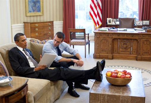 president obama feet on table public housing
