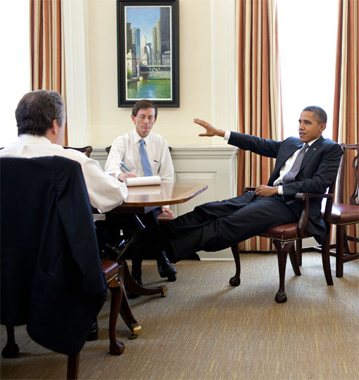 president obama feet table public housing