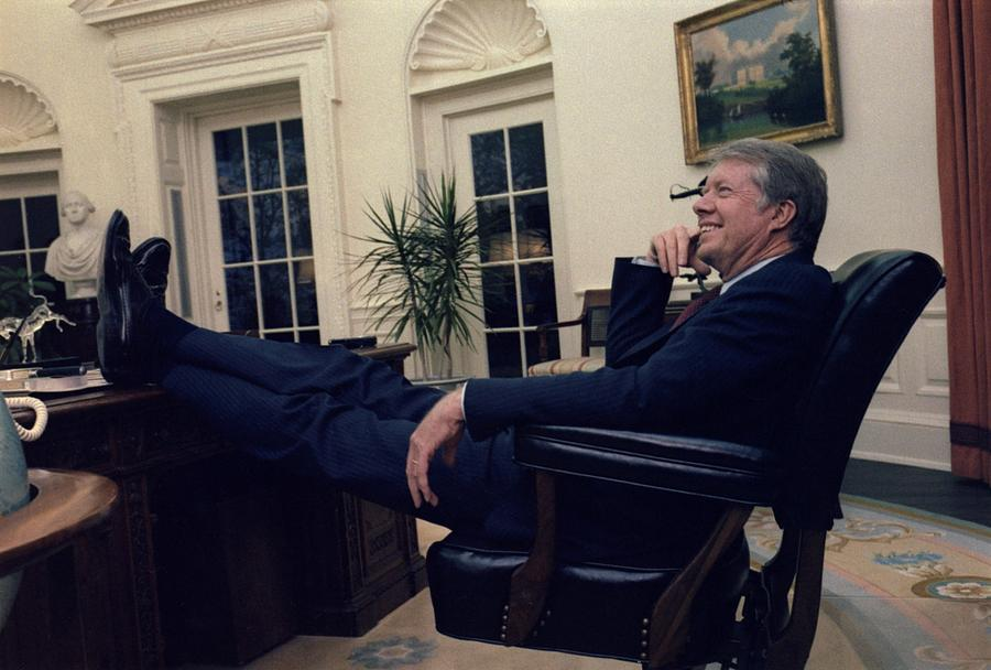 president carter feet resolute desk oval office