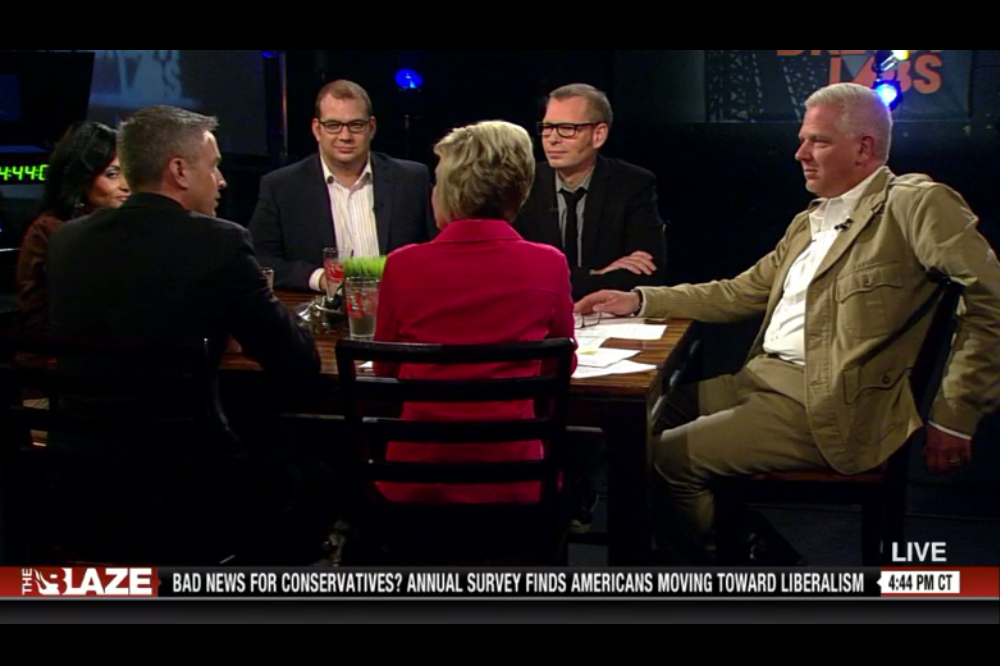 Interviewed by Glenn Beck on The Blaze TV.