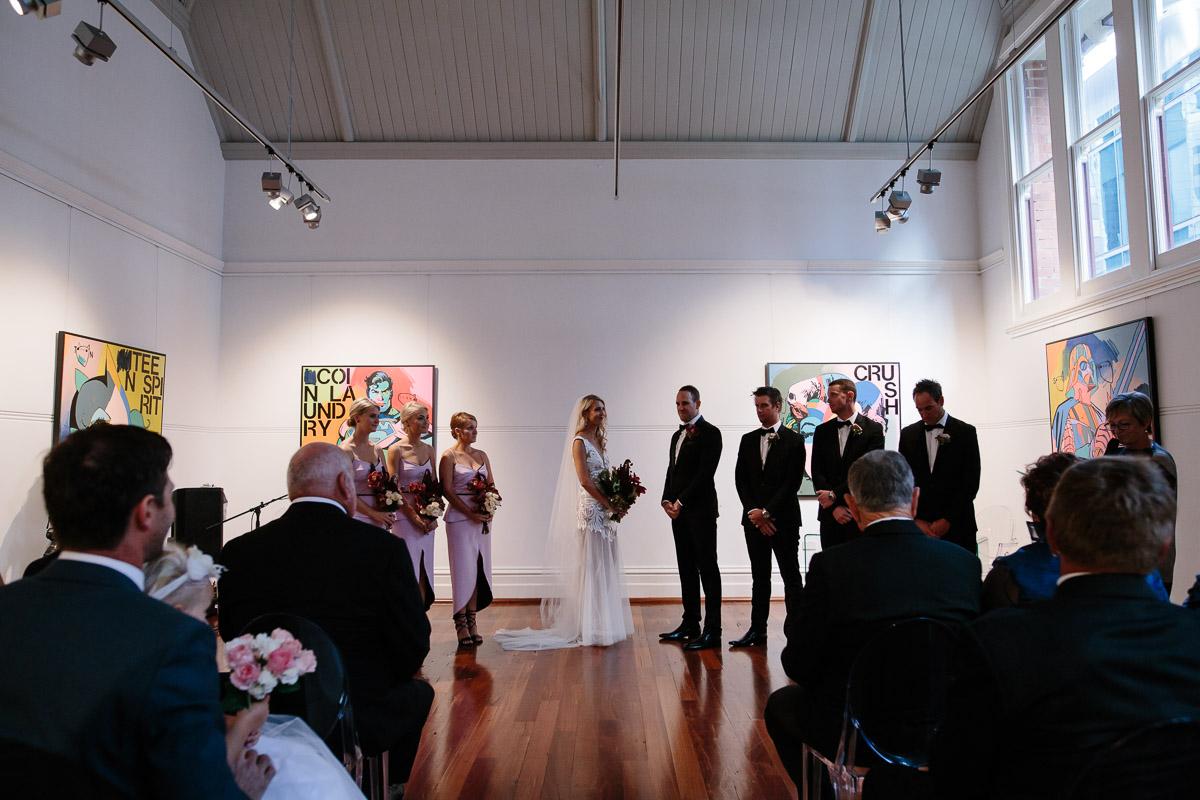 Linton & Kay Gallery wedding ceremony - Peggy Saas