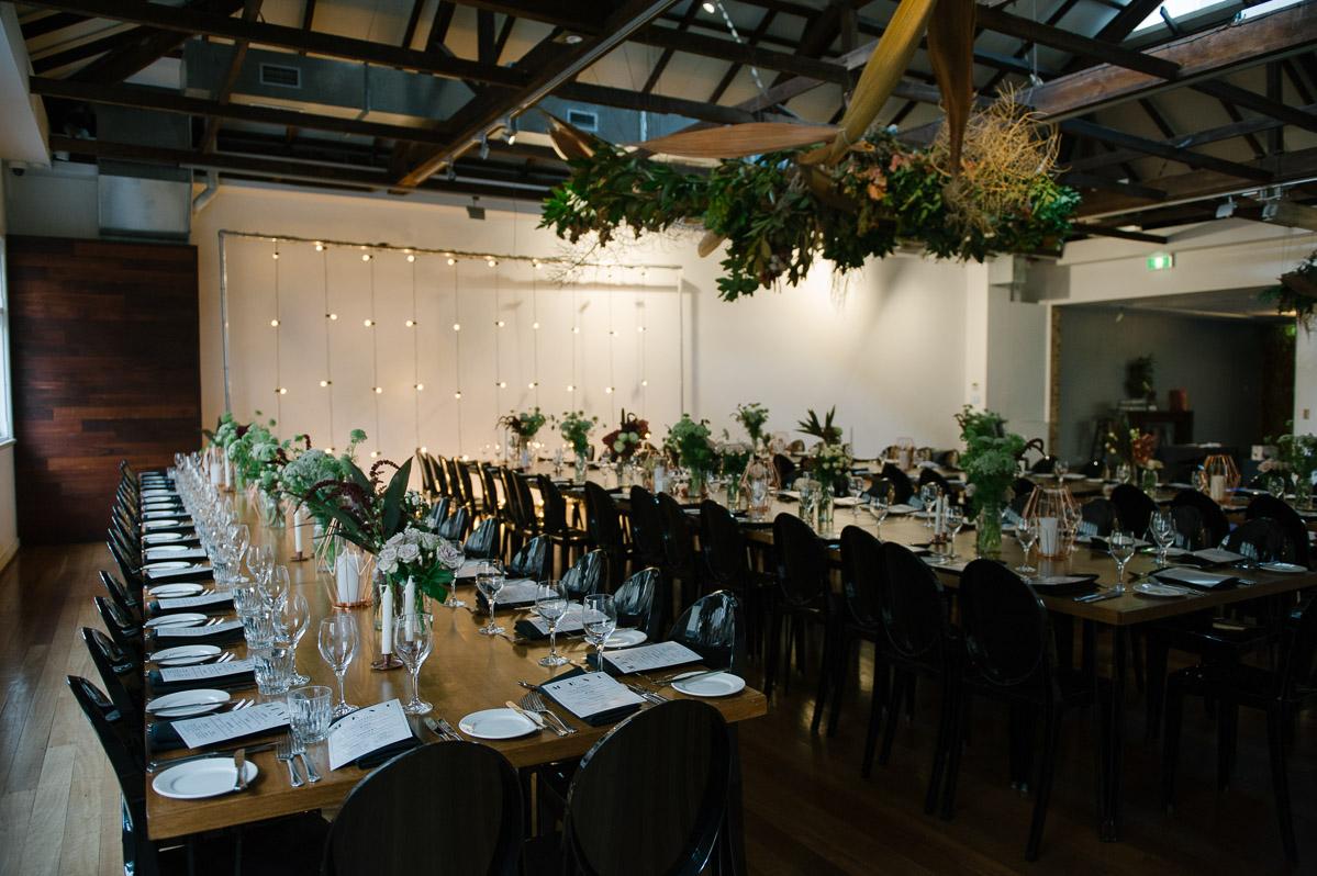 The Flour Factory wedding reception - Peggy Saas