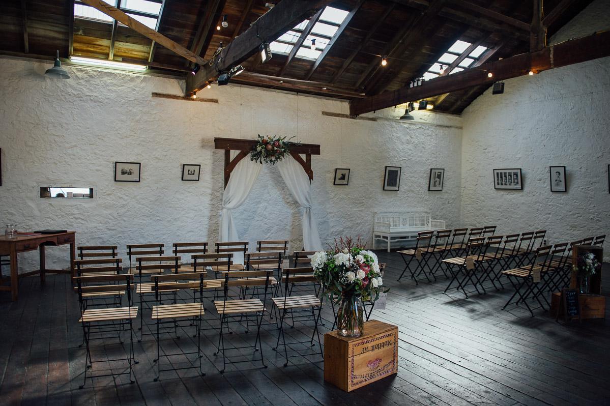 Kidogo Arthouse wedding ceremony