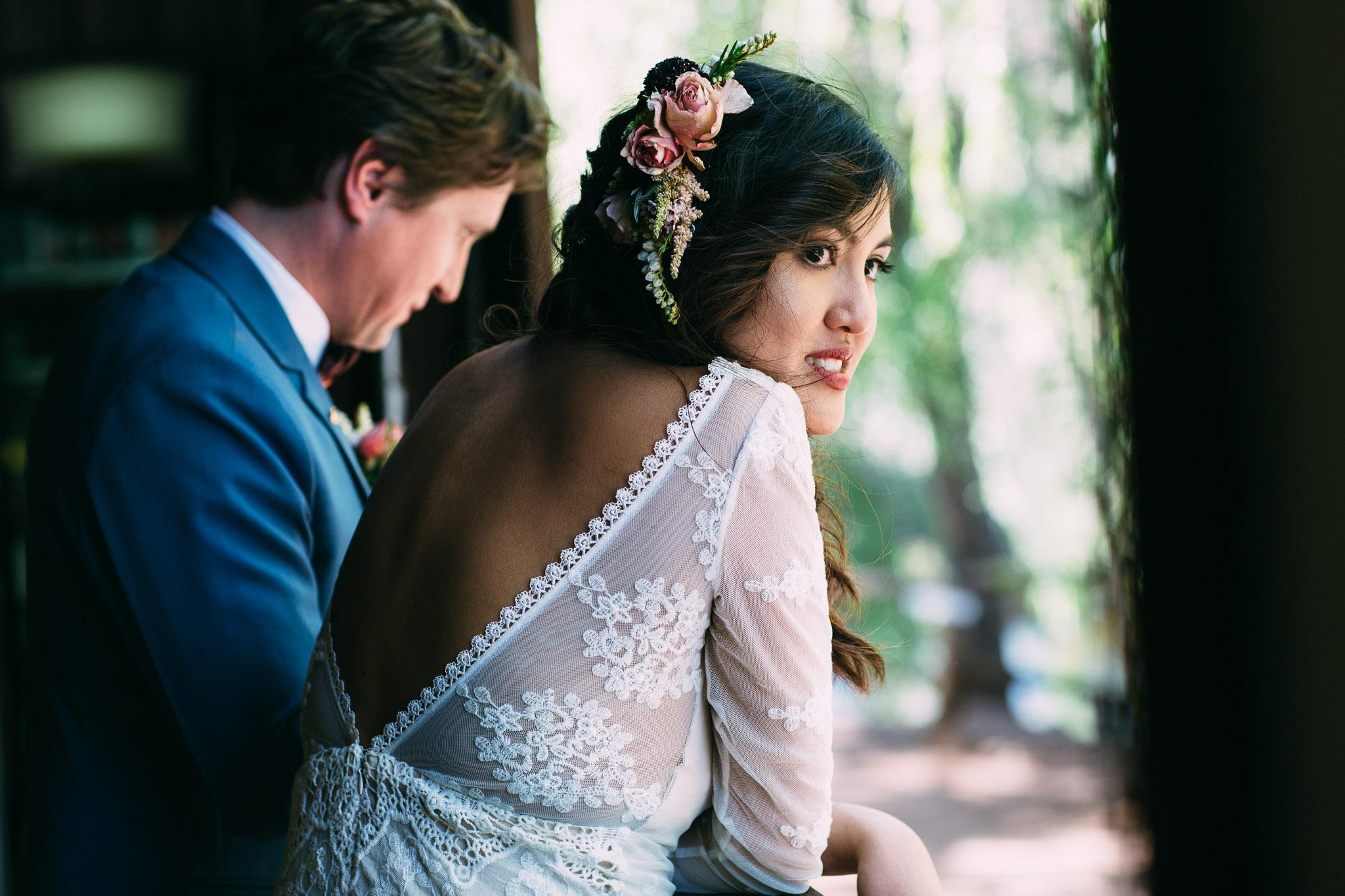 Boho bride-Brookside Vineyard