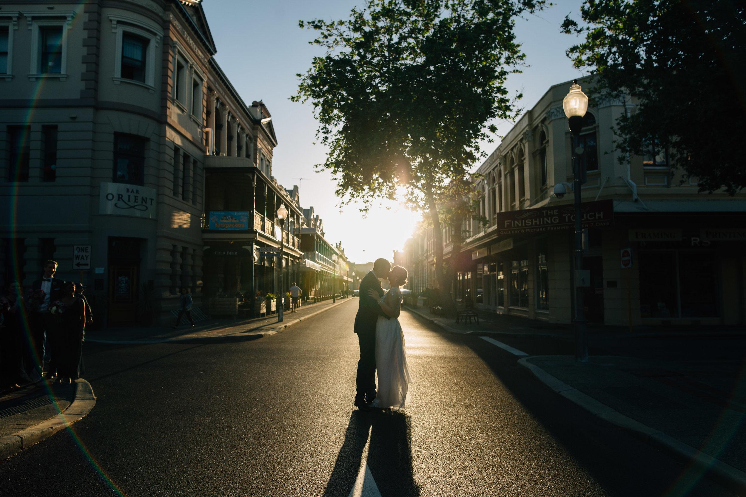 Fremantle wedding-High Street sunset.jpg