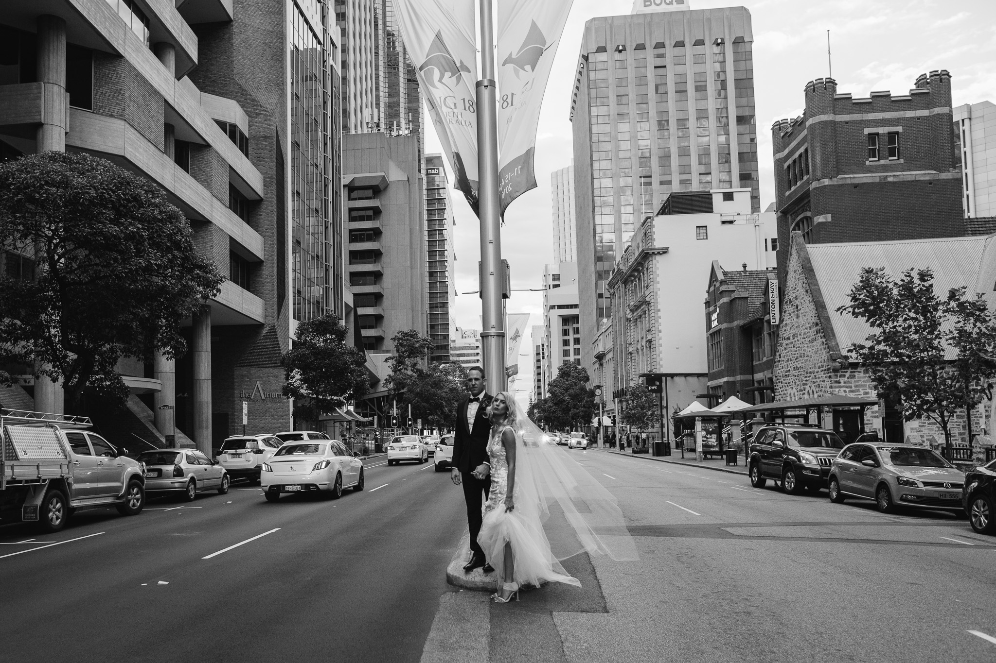 Perth CBD city wedding