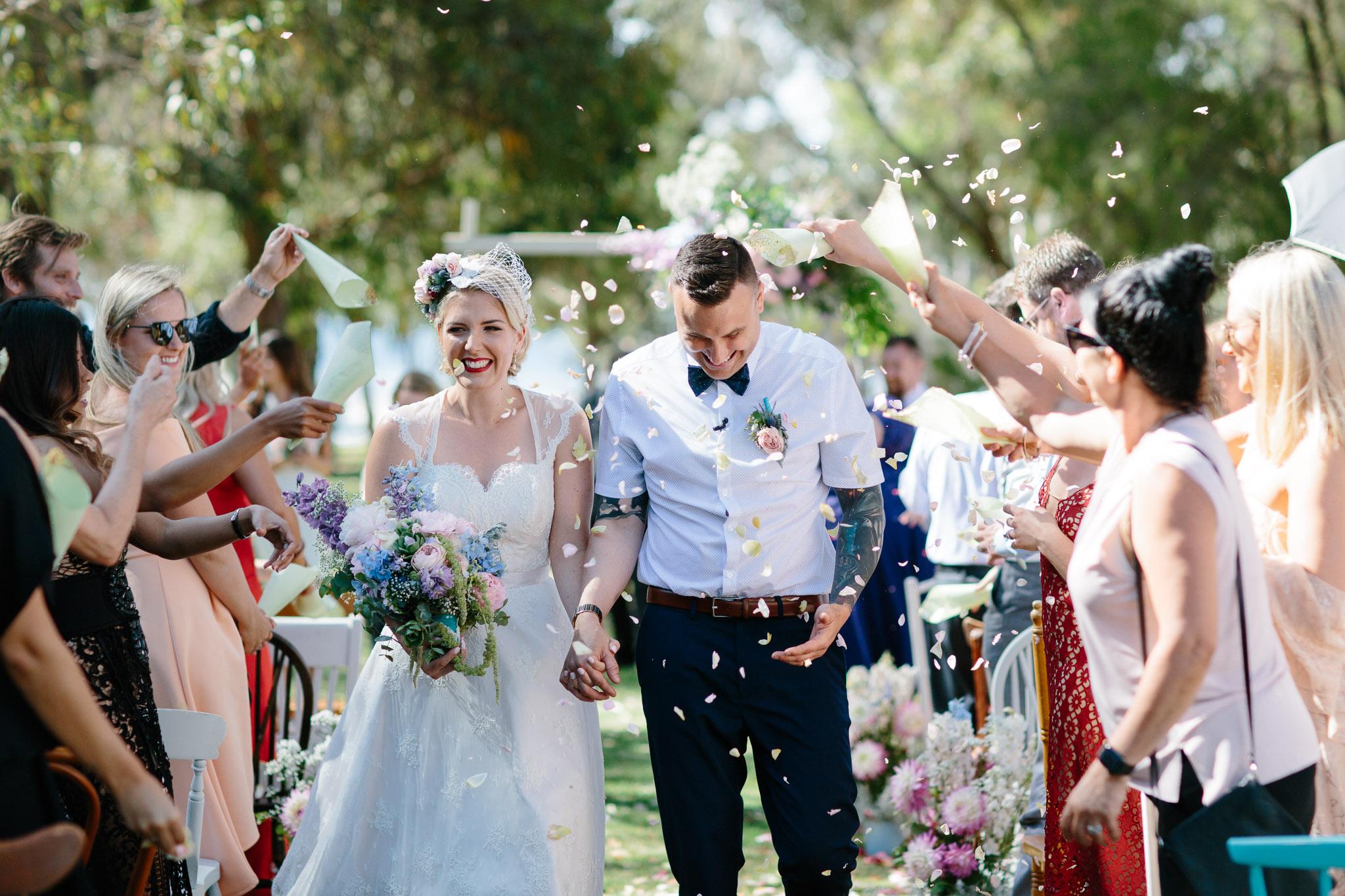 Vintage Perth wedding-just married.jpg