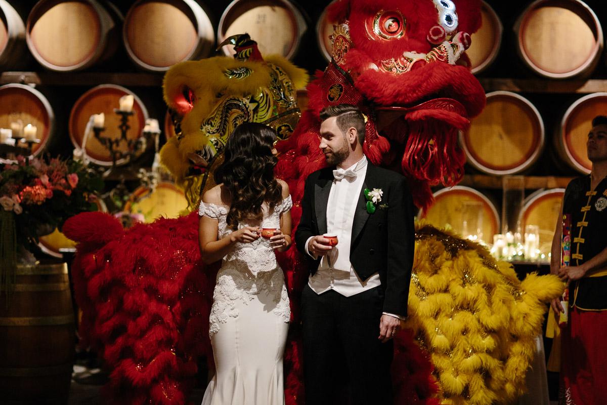 Sandalford wedding-lion dance