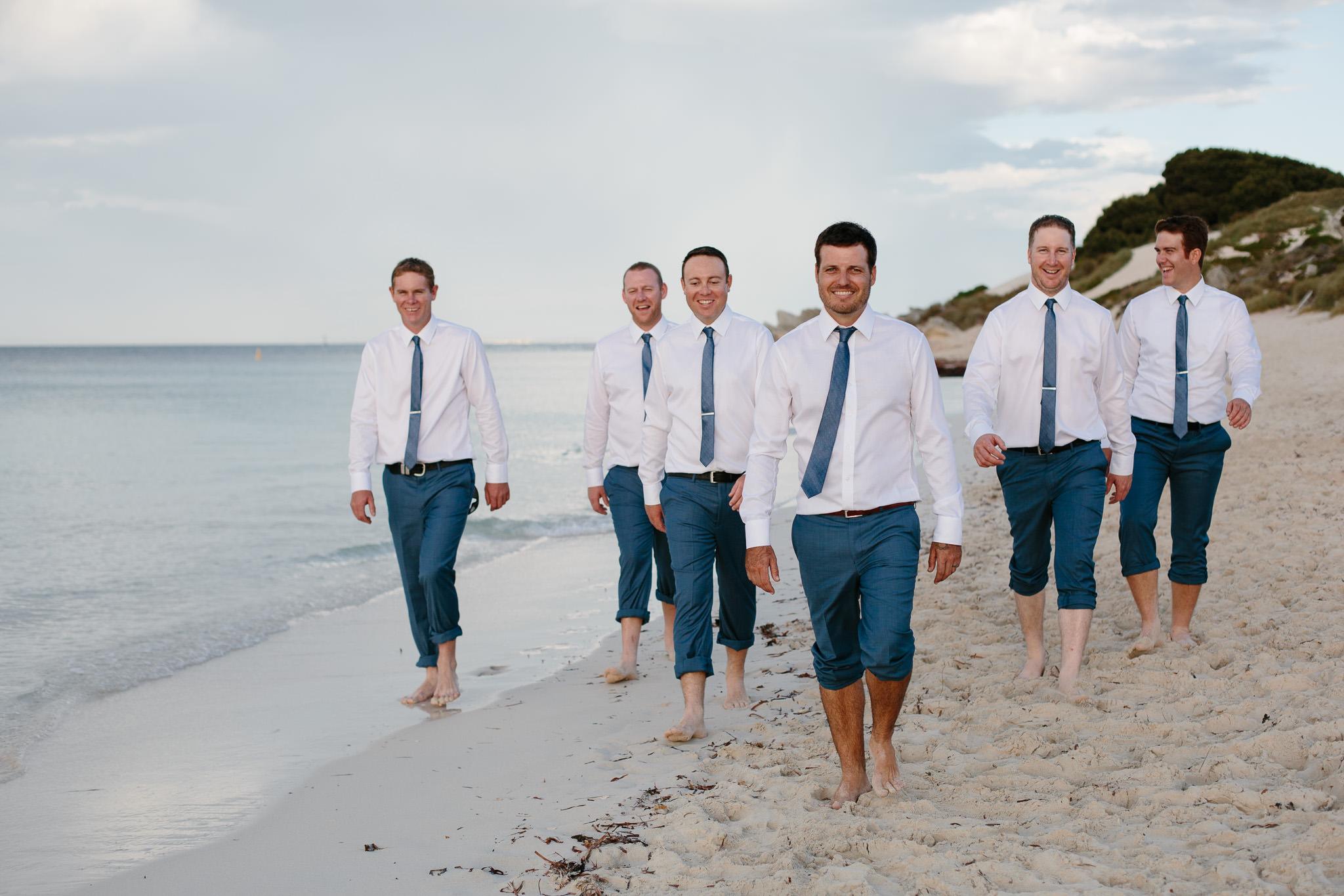 Rottnest Island wedding-groomsmen