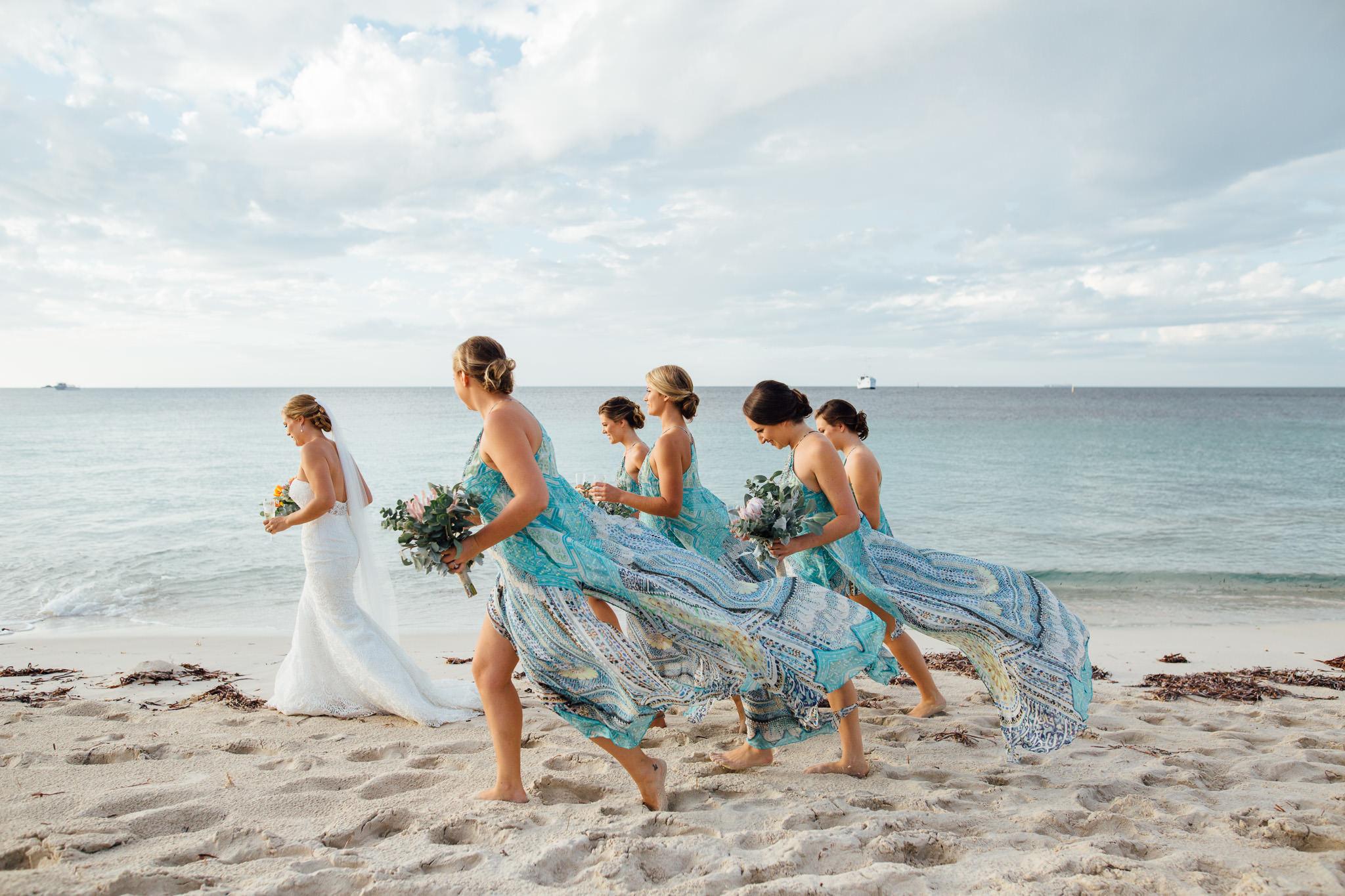 Rottnest Island wedding-Camilla bridesmaids