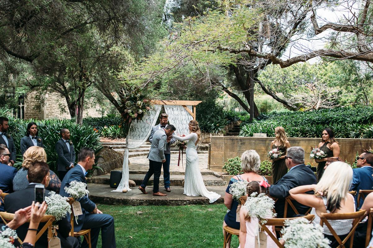Sunken Gardens Wedding.Alia Clint Sunken Gardens Uwa The Guildford Hotel