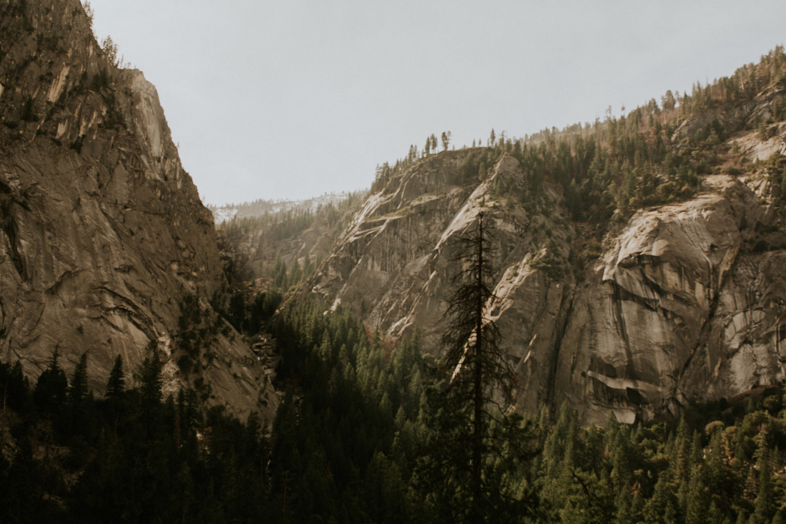 yosemite valley mist trail to vernal falls wedding adventure elopement photographer BreeAnna Lasher