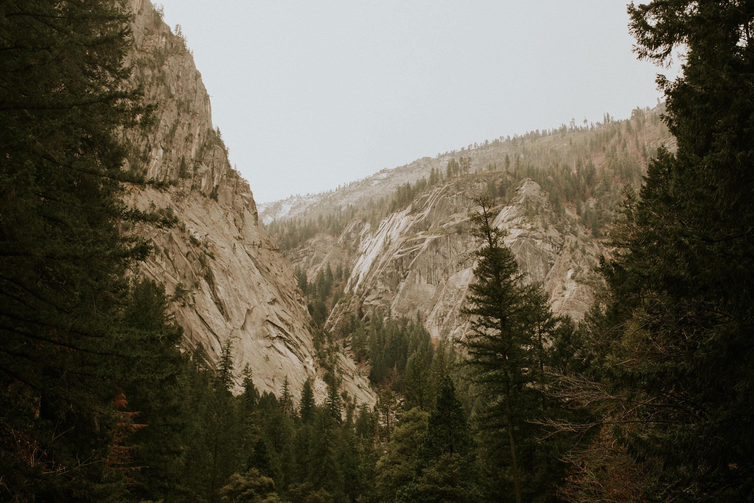 yosemite valley vernal falls elopement photographer Breeanna lasher