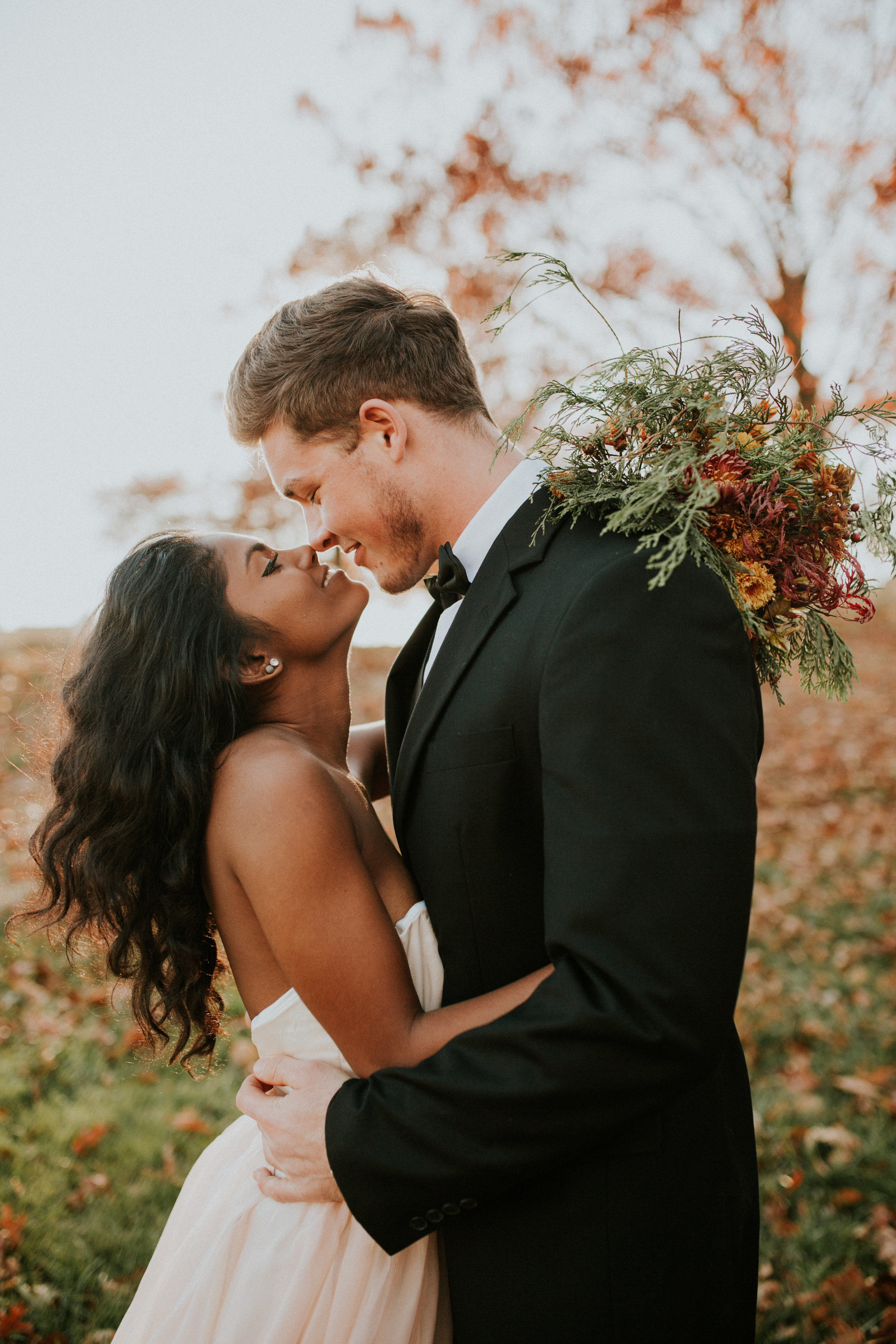 Baltimore elopement in the woods in autumn by BreeAnna Lasher