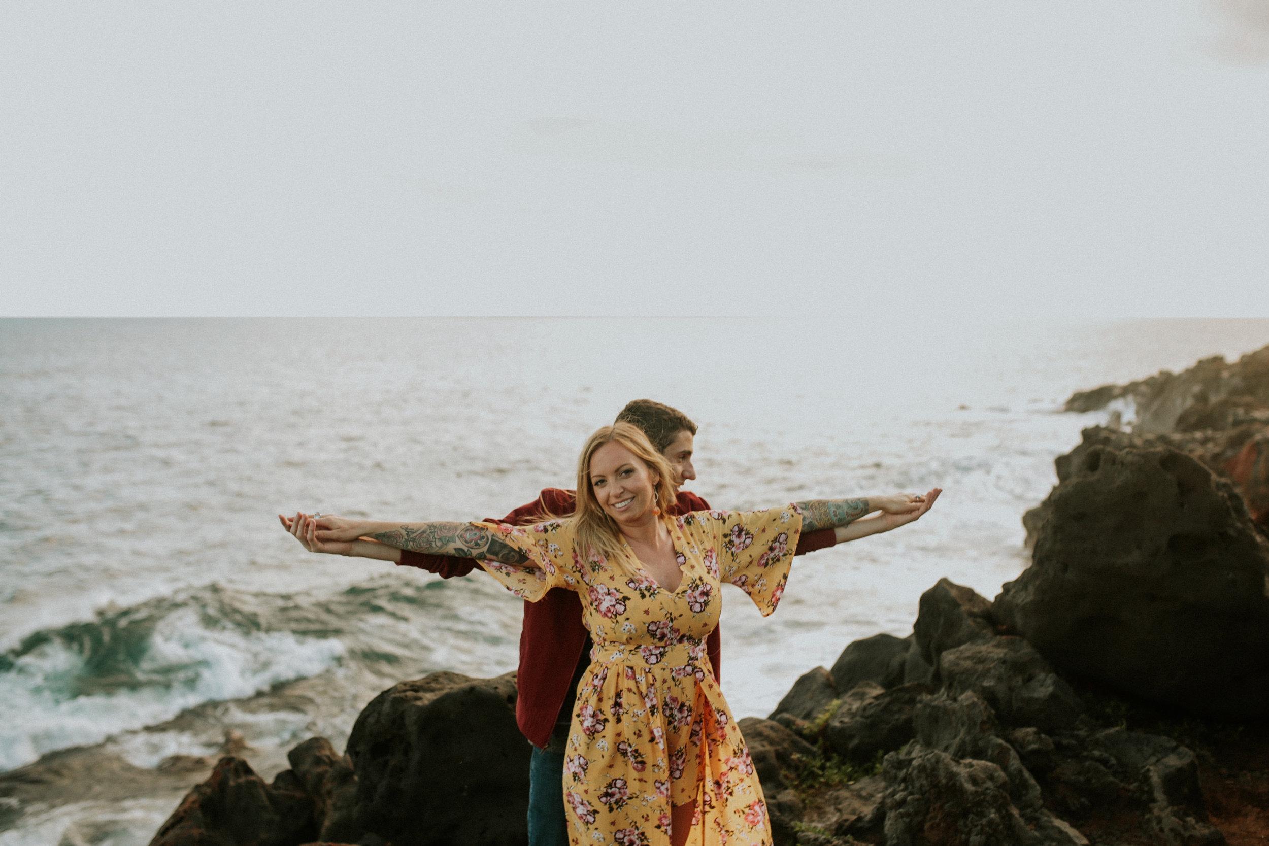 best kauai spouting rock engagement session breeanna lasher
