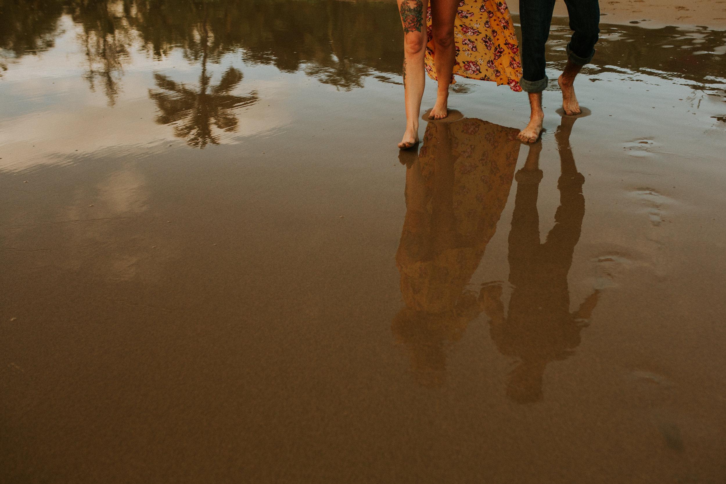 kauai engagement photos adventure session on a secret beach