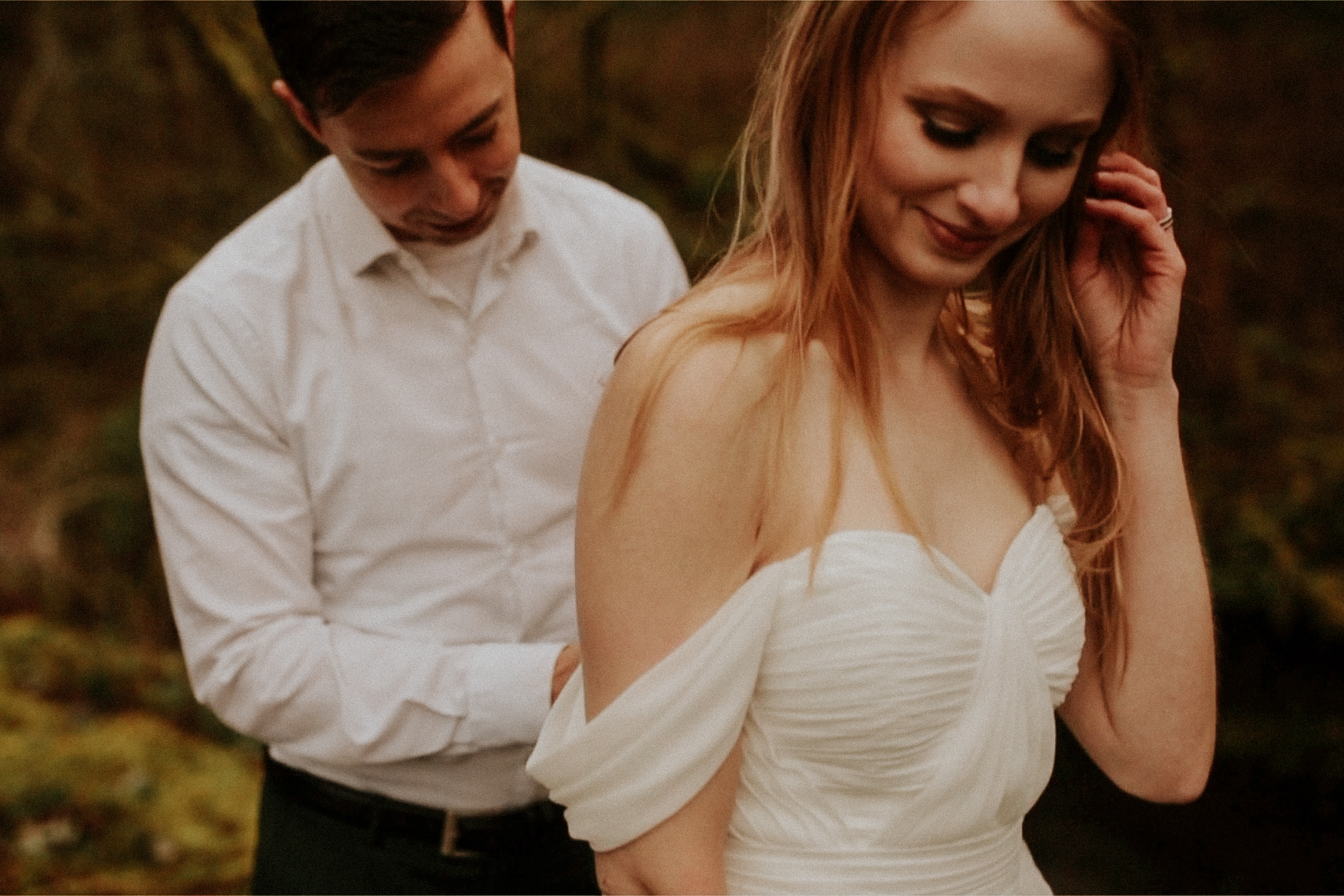 portland photographer bridal veil falls elopement