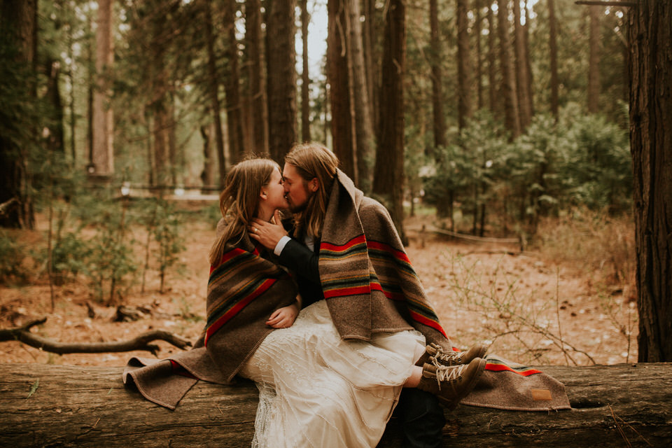 Yosemite national park forest elopement by BreeAnna Lasher