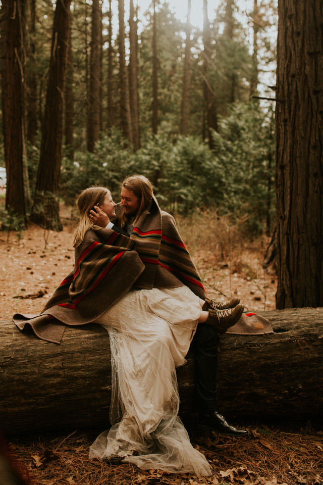 yosemite national park forest elopement photography by BreeAnna Lasher