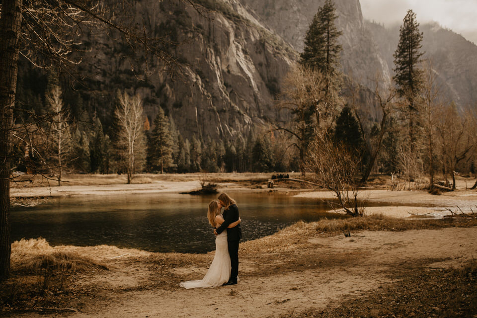 yosemite national park elopement by the river