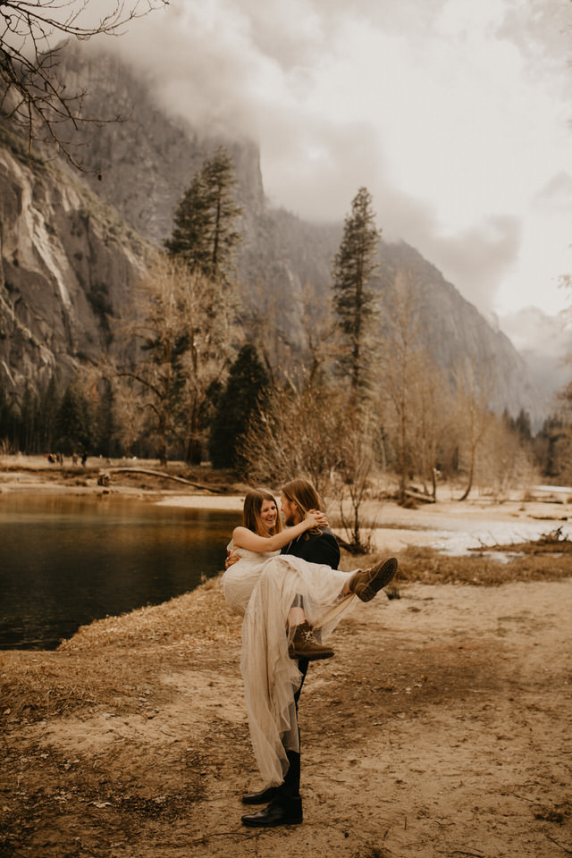 yosemite elopement in the forest BreeAnna lasher