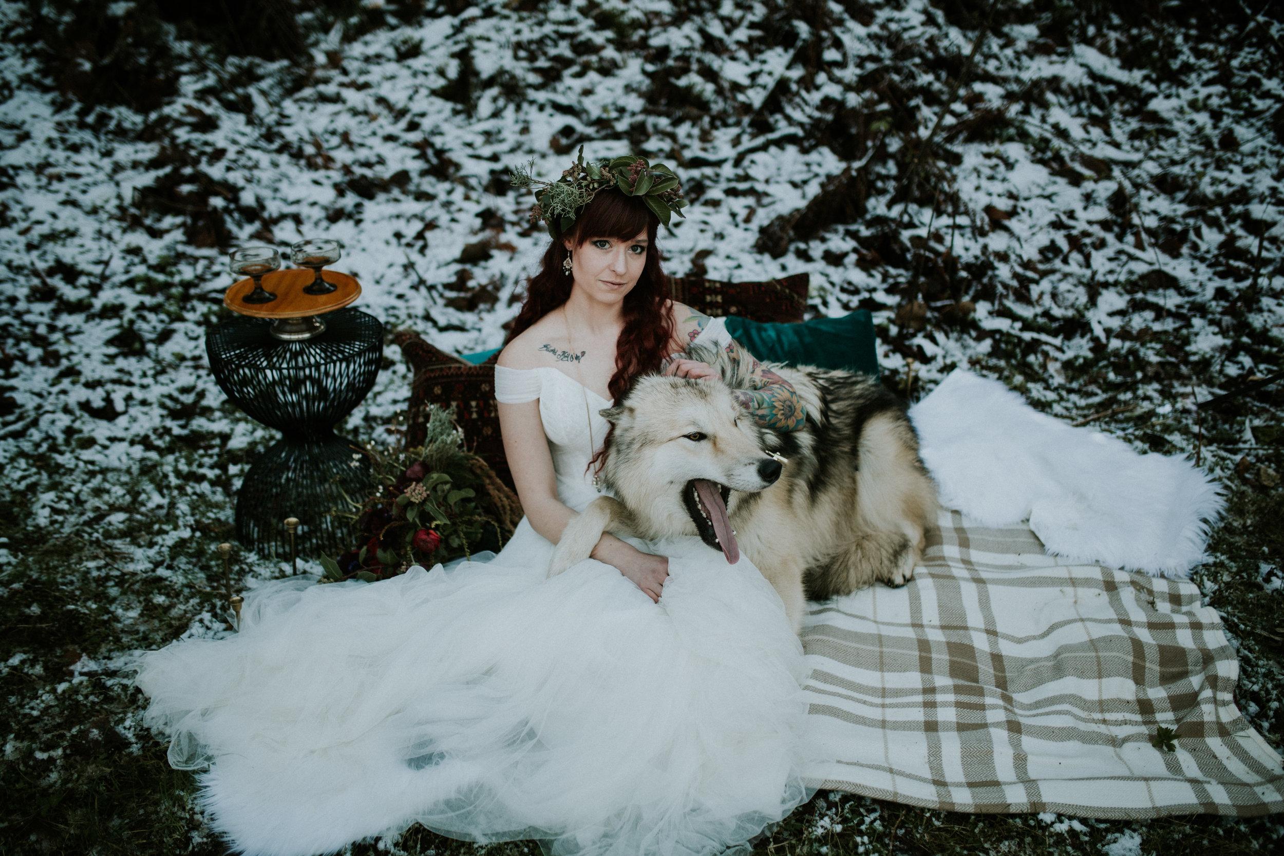 Latourell falls elopement photographer