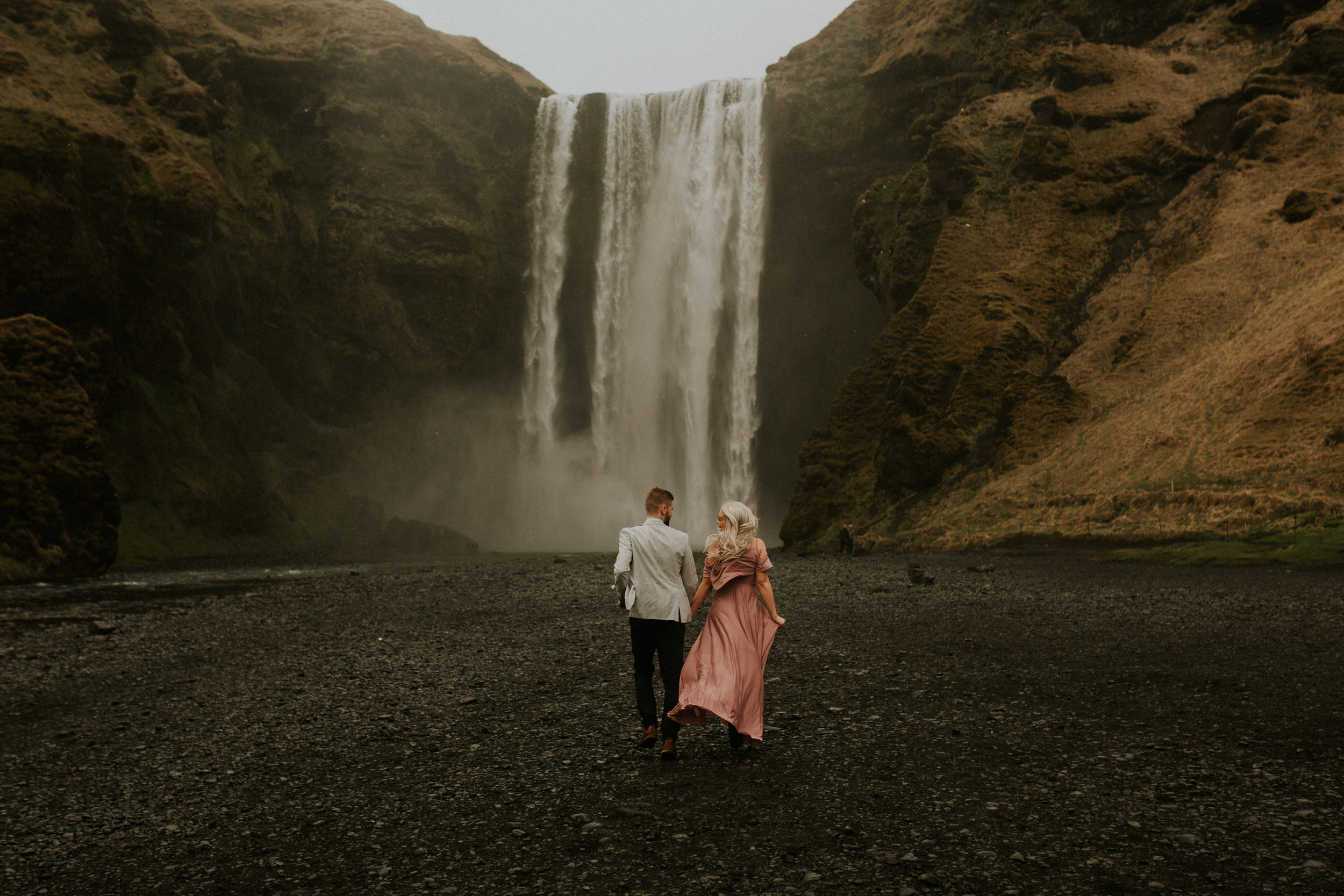 skogafoss elopement icelandic couple session photography by BreeANna Lasher