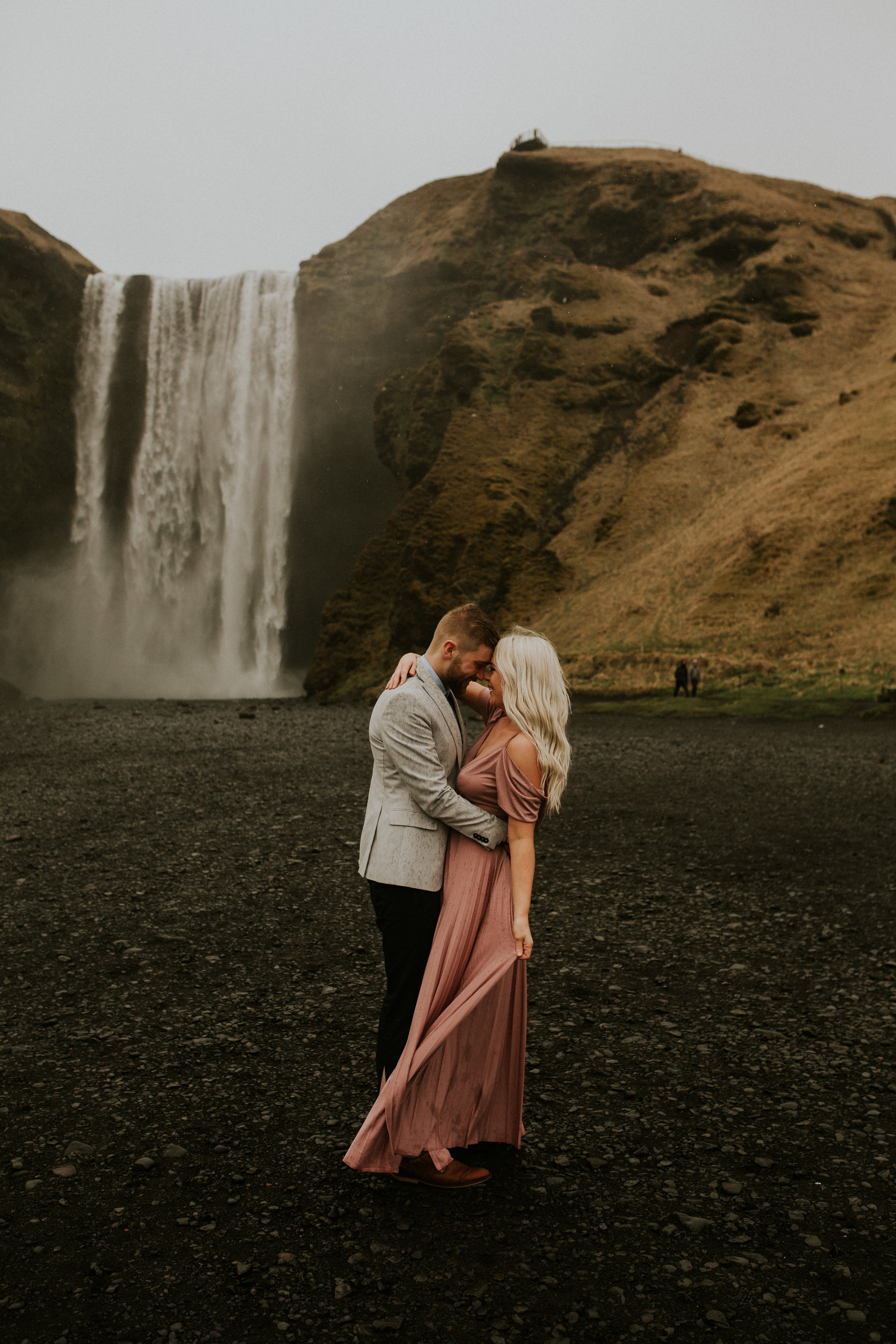 Skogafoss iceland elopement photography by BreeAnna Lasher