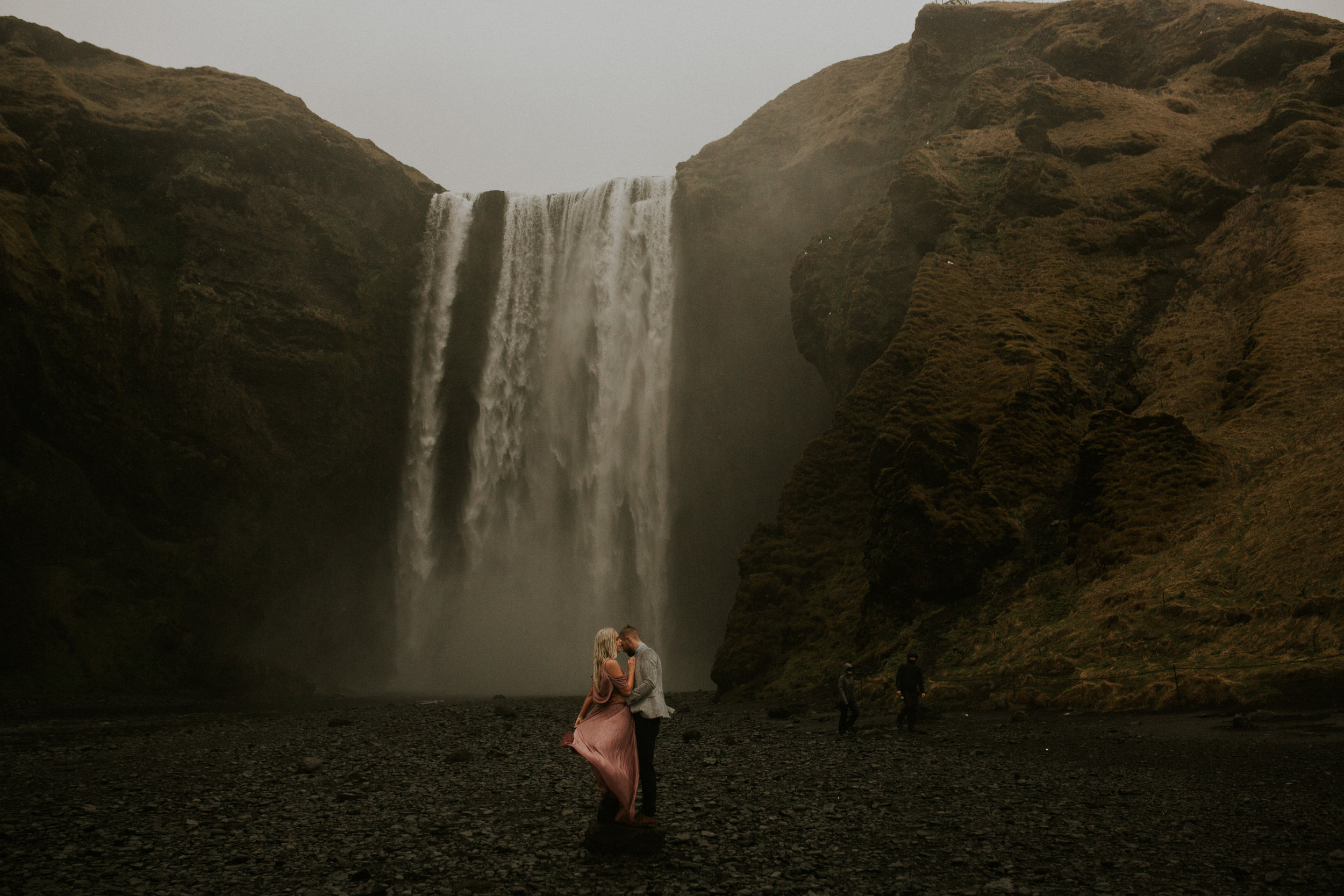 iceland elopement photographer skogafoss couple by Breeanna lasher