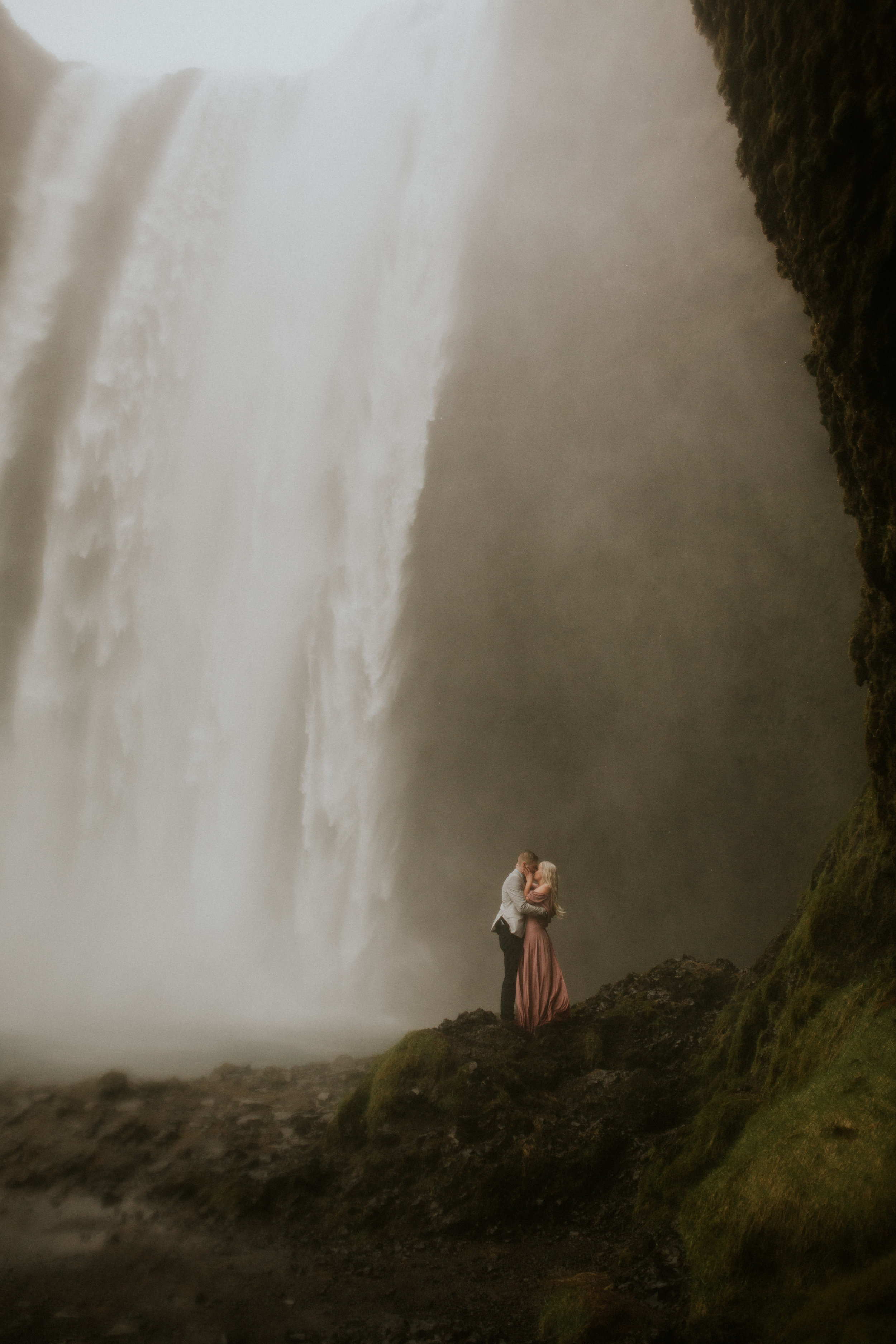 skogafoss elopement in the waterfall by BreeAnna Lasher
