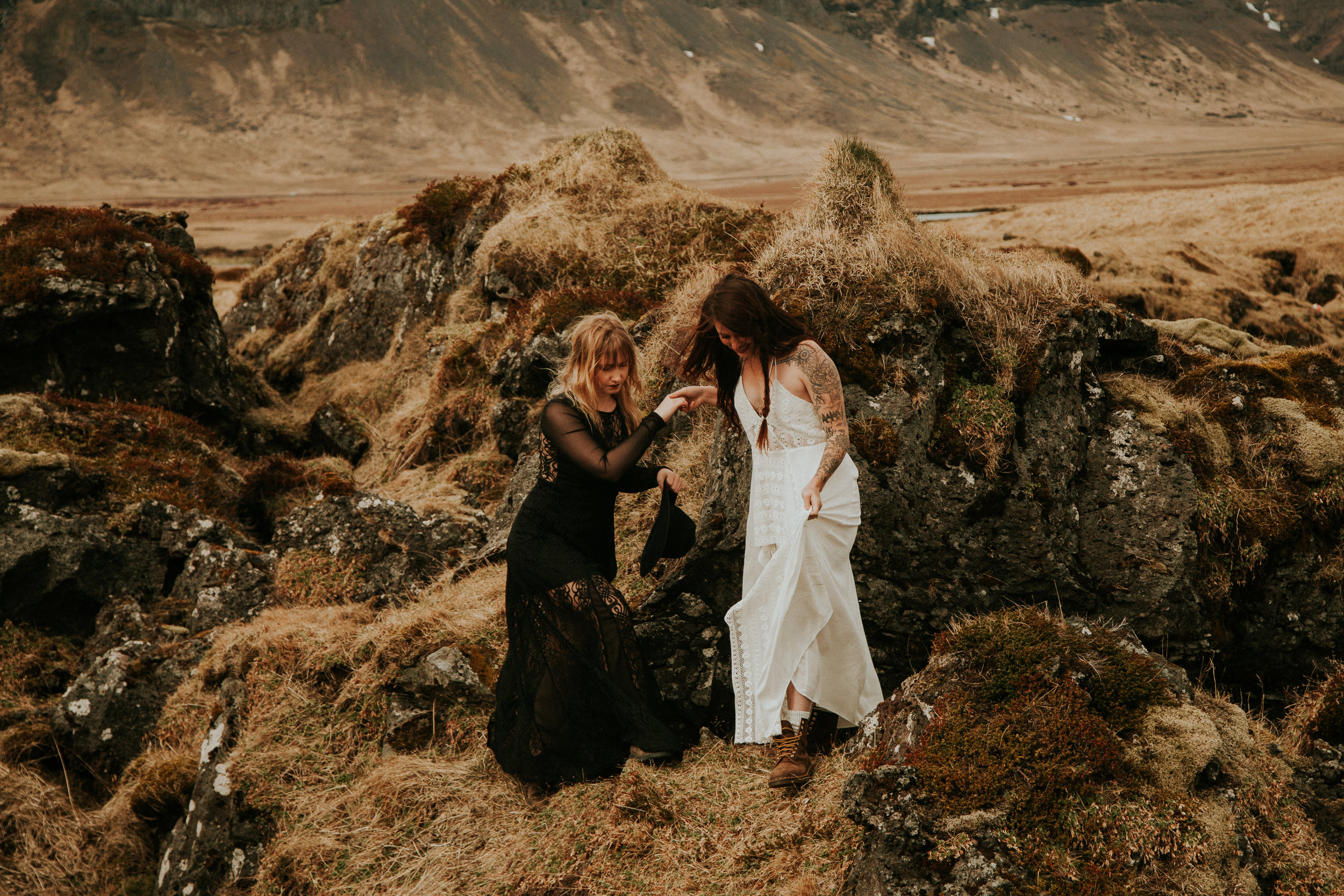 iceland elopement photographer by breeanna lasher