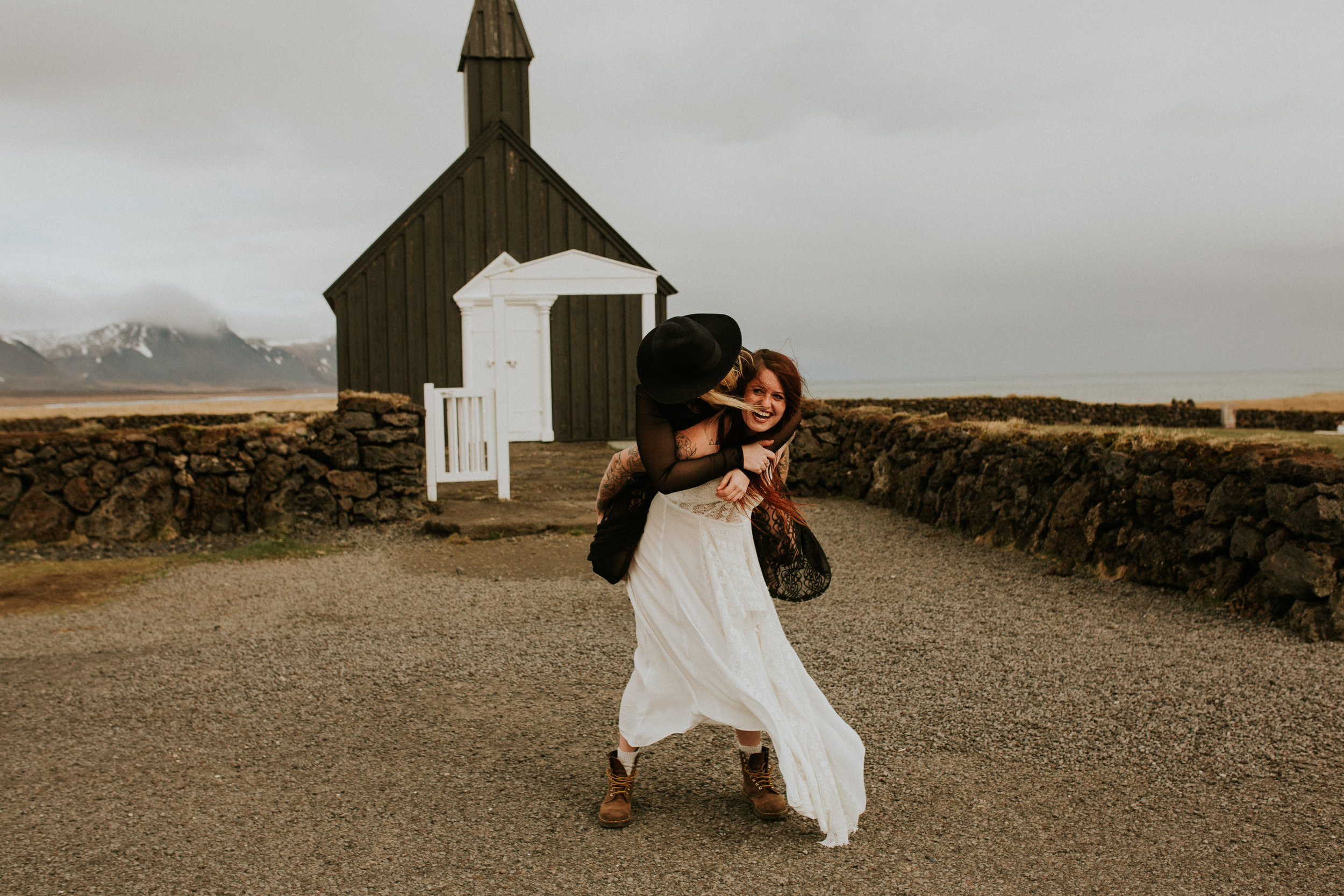 iceland-black-church-elopement-same-sex-wedding