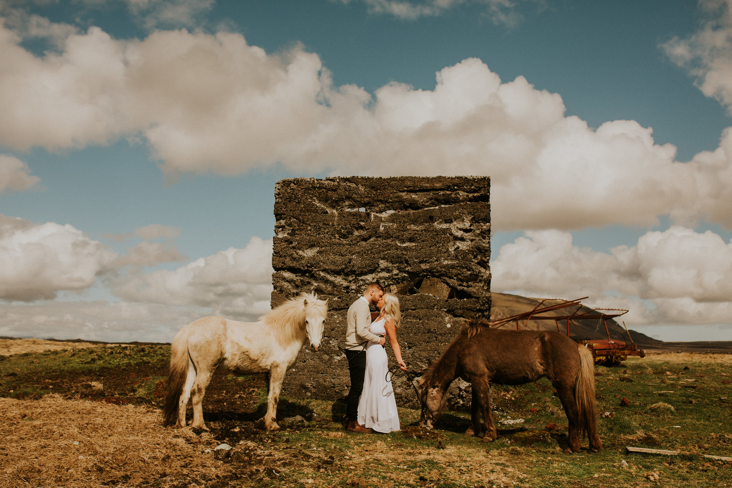 iceland horse farm bridal session elopement styled shoot adventure by photographer breeanna lasher.