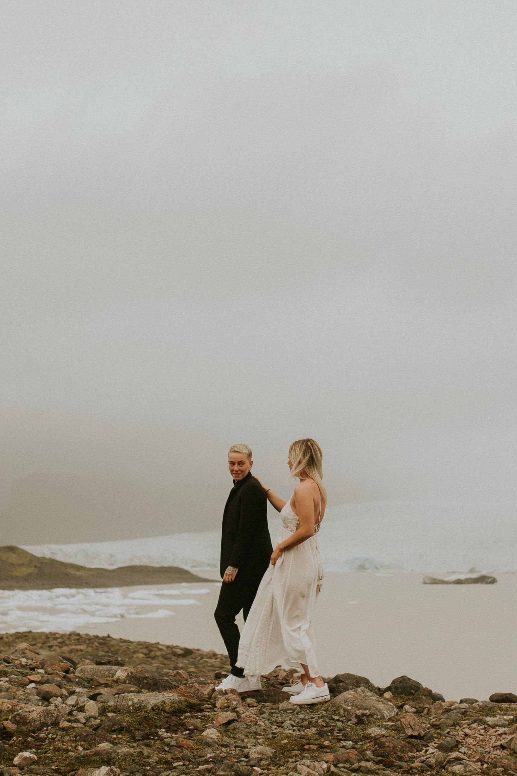 same sex elopement iceland first look photographer breeanna lasher lgbt