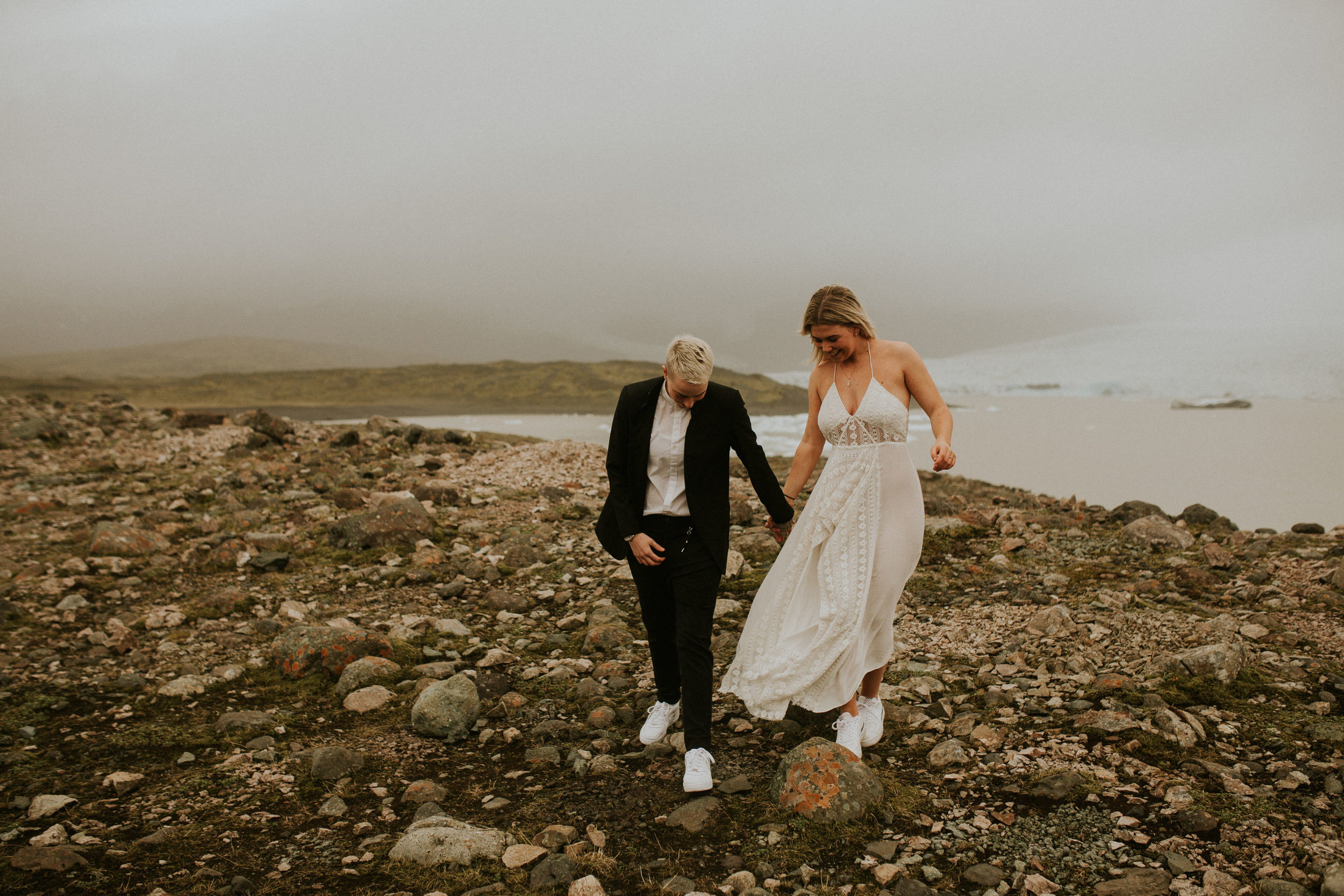 iceberg lagoon in iceland vow renewal lgbt