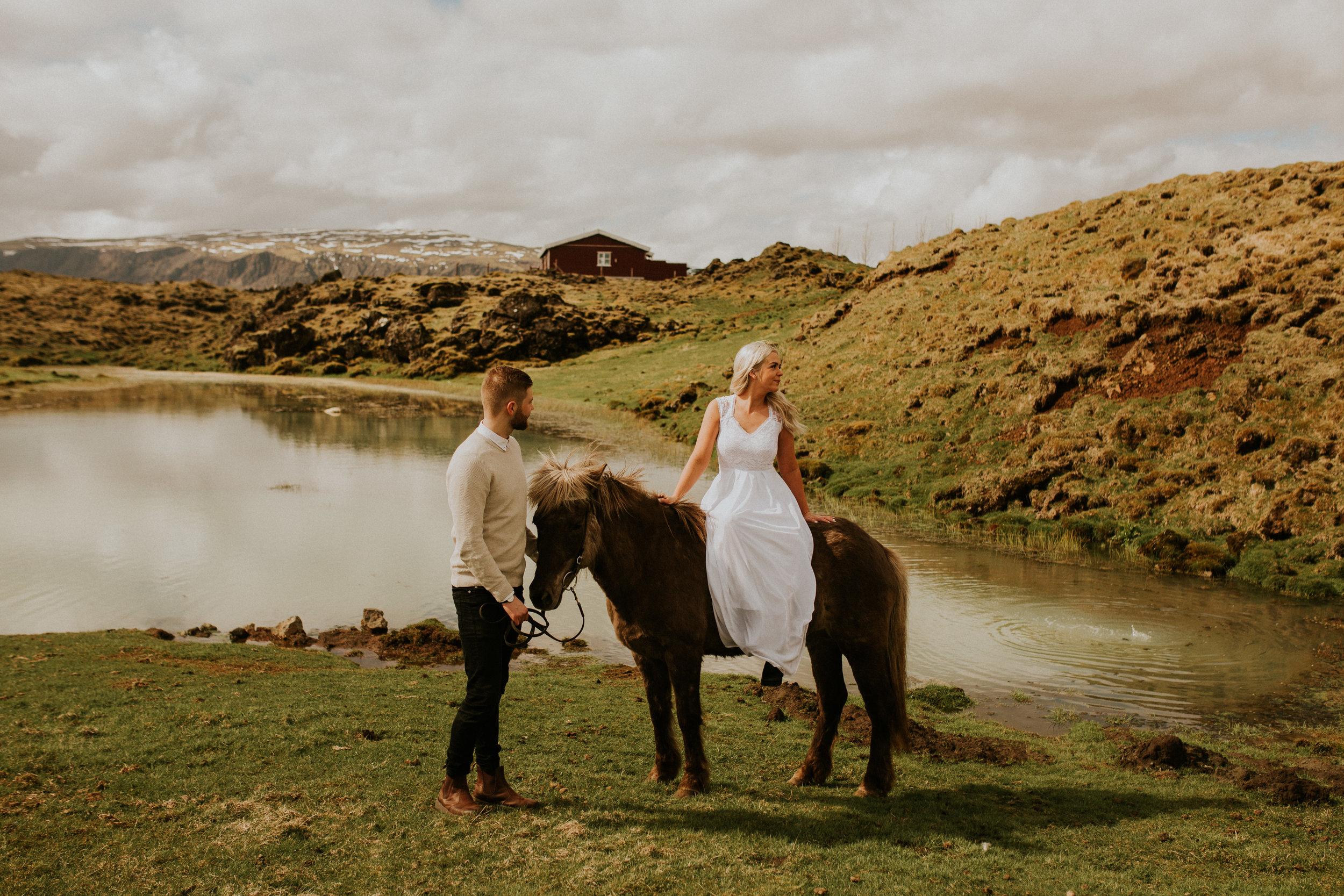 iceland icelandic horse farm bridal session photography