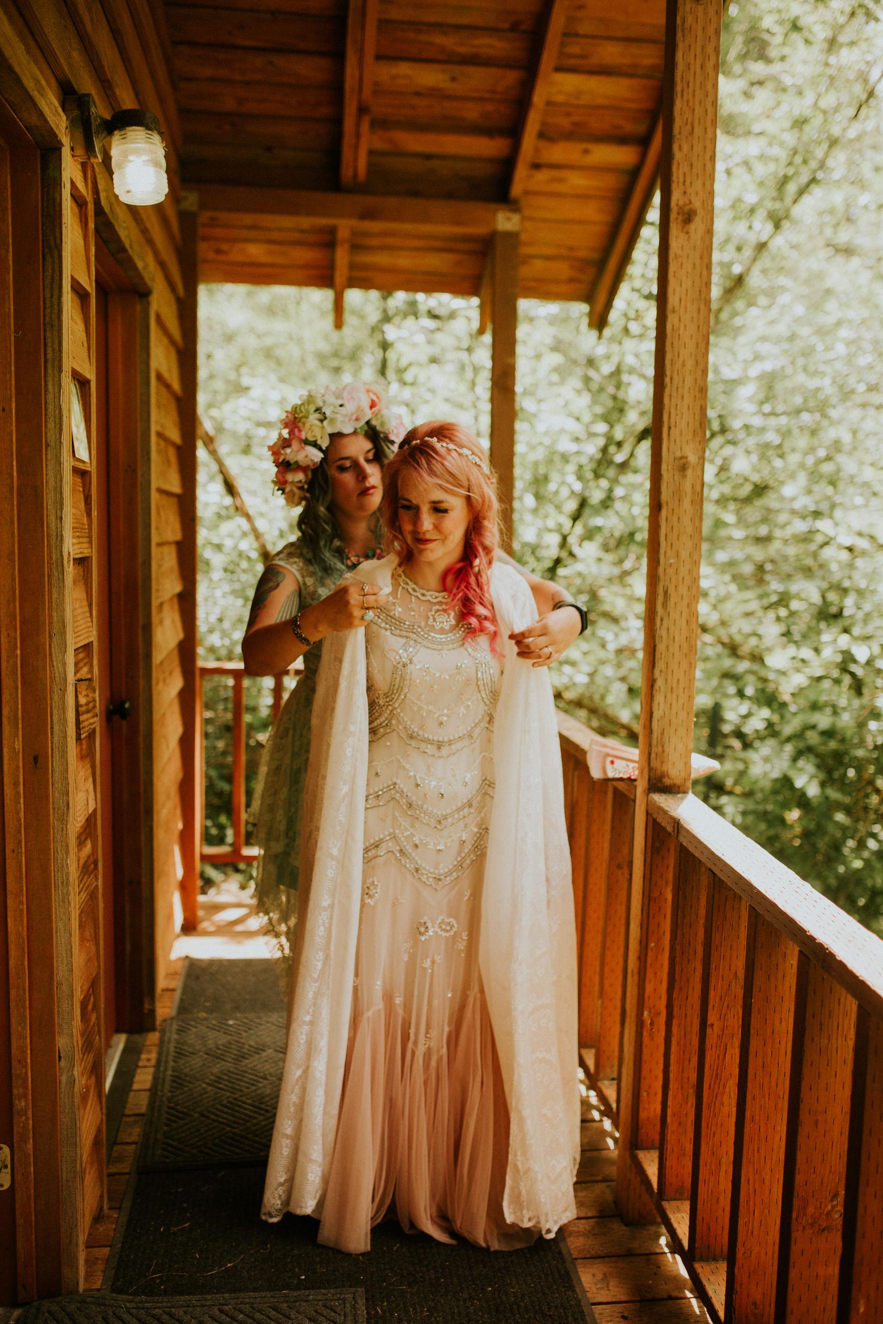 pnw woods wedding elopement photographer