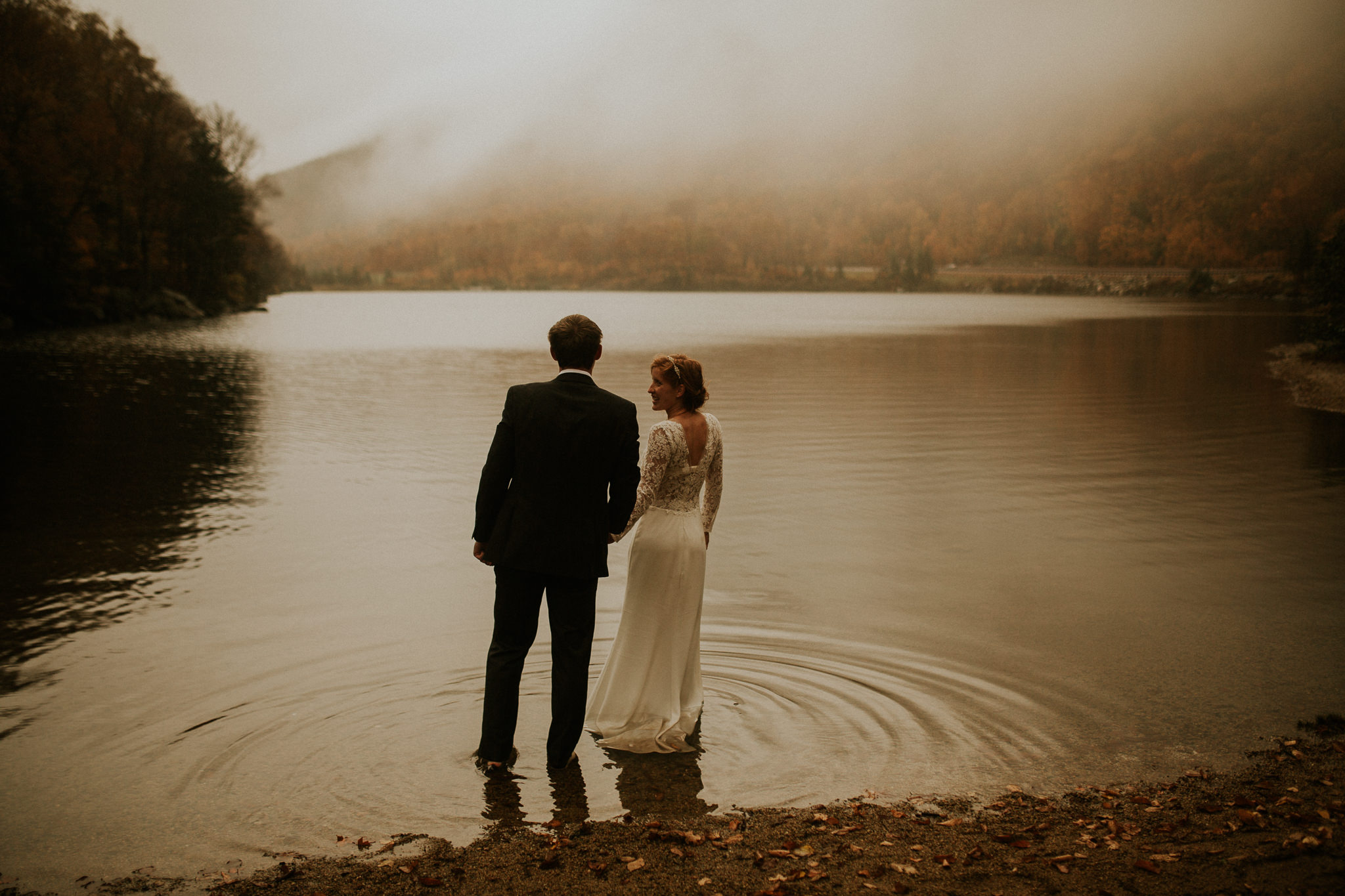 new Hampshire elopement photographer stunned by fall colors