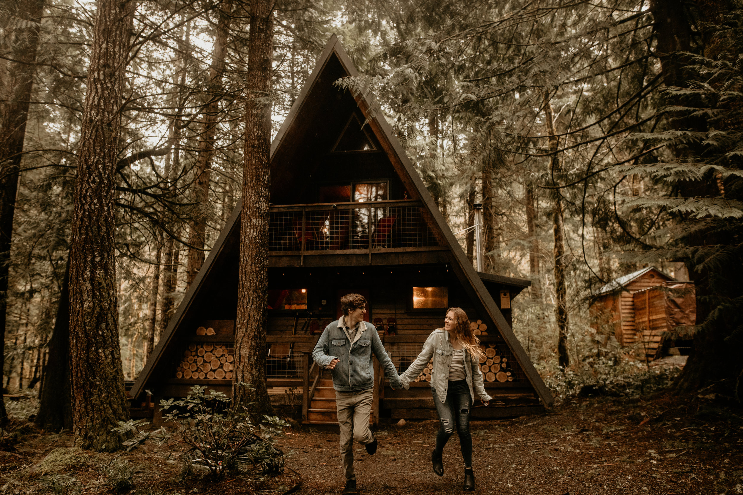 Mt rainier a-frame, mt rainier national park, backwood cabin, little owl cabin, Seattle elopement photographer - pnw elopement photographer - tacoma elopement photographer - Seattle wedding photographer - tacoma wedding photographer - pnw wedding photographer - hire wedding photographers in seattle - adventure wedding photographer - wedding photographer under $2000 - tacoma wedding photographers - elopement wedding photographer - elopement photographer - rattlesnake lake engagement photos
