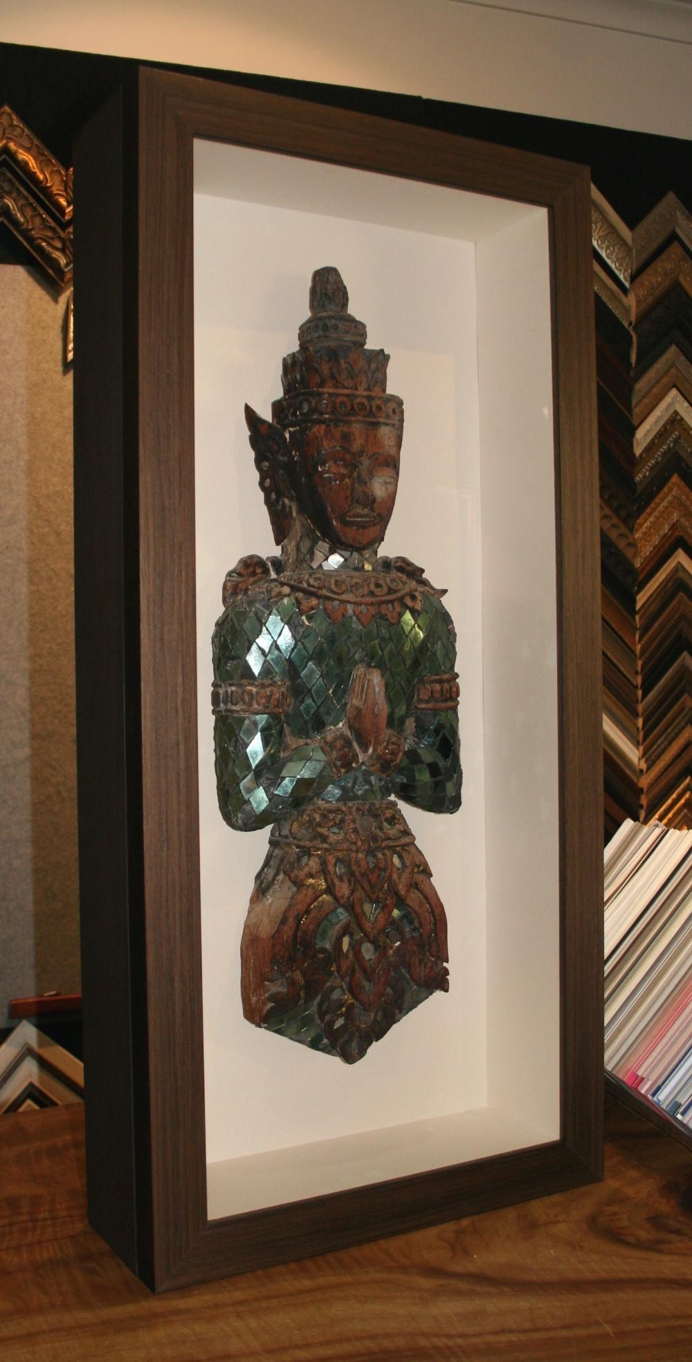 Custom Framing timber Buddha.JPG