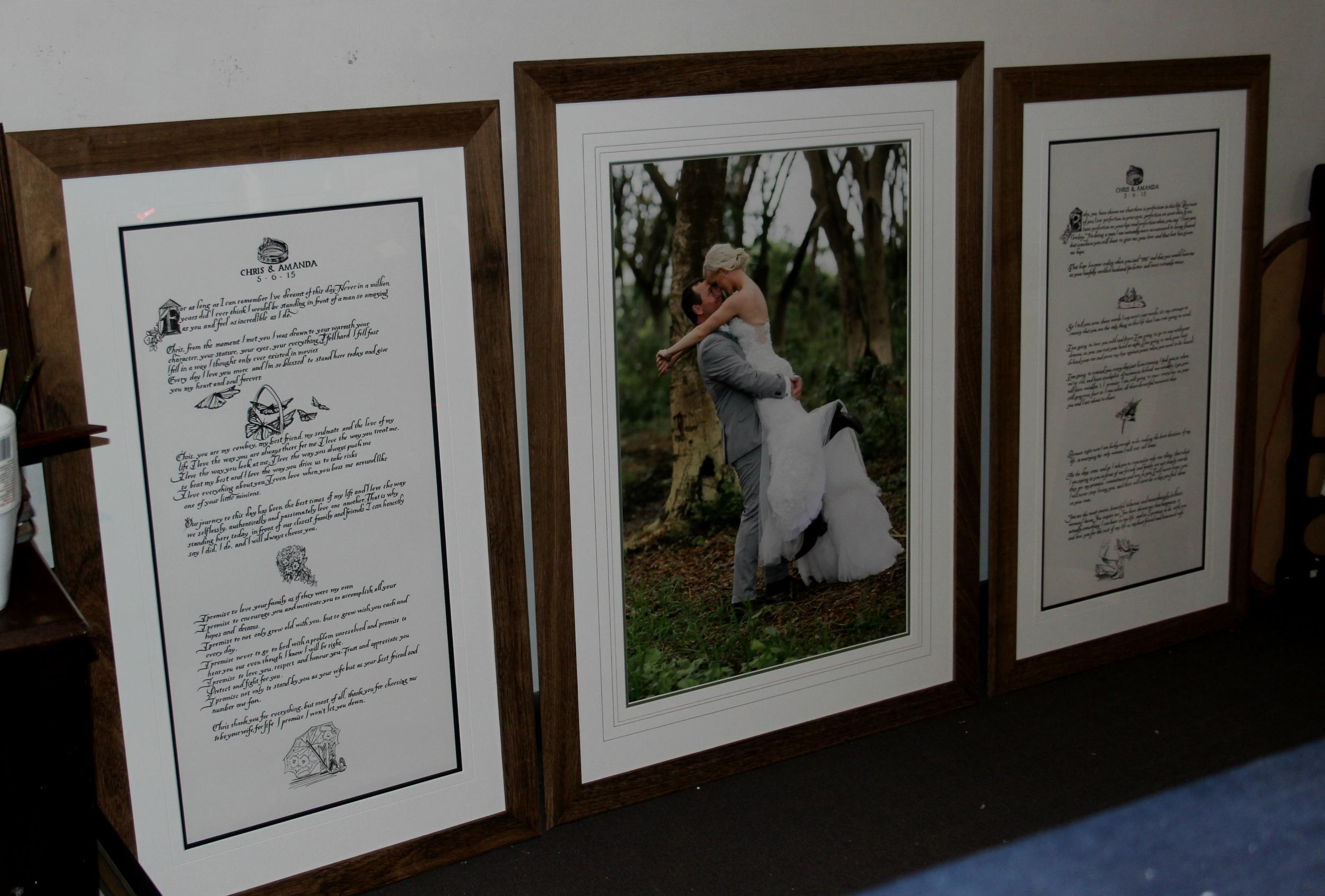 Wedding photo and vows brisbane framing.jpg