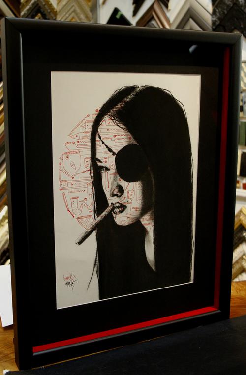 Creative framing. Custom hand coloured sides