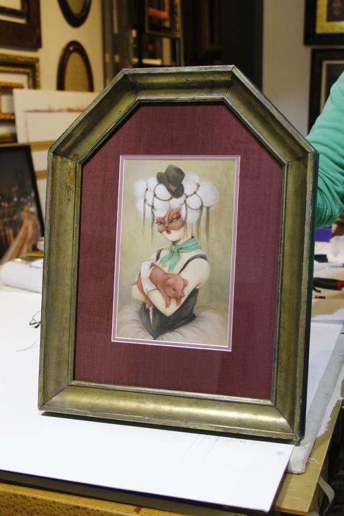 Miss Van artwork Cathederal style frame