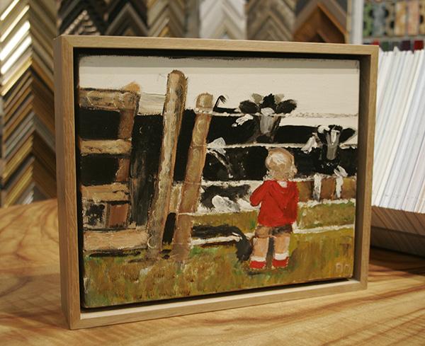 Oak timber float frame