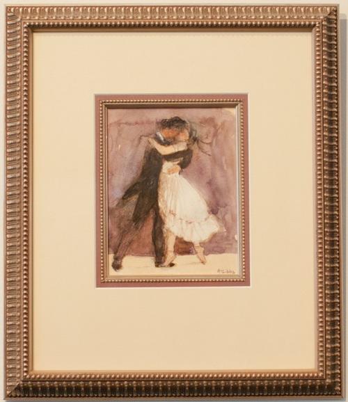 Watercolour artwork framed using a fillet