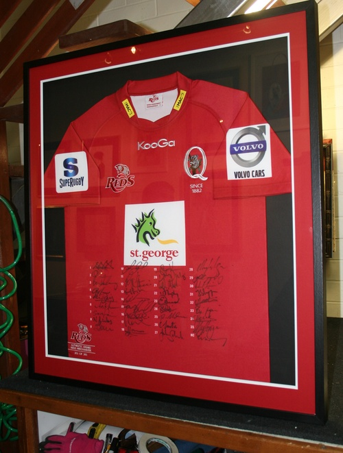 Sports Jersery framing Brisbane