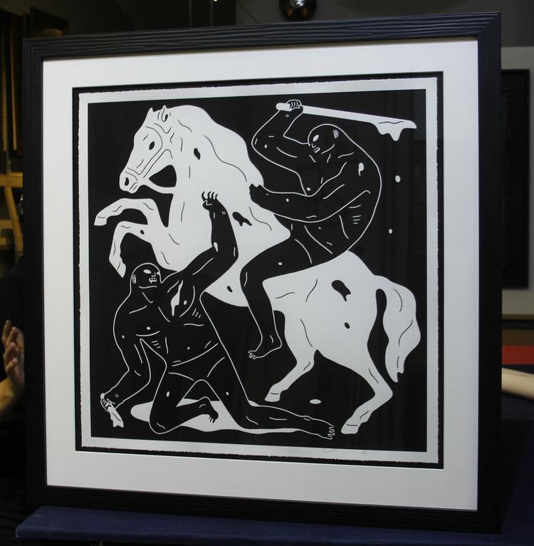 Cleon Peterson artwork framing