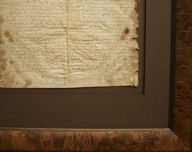 framed vellum document - protein based material requires a specific PH