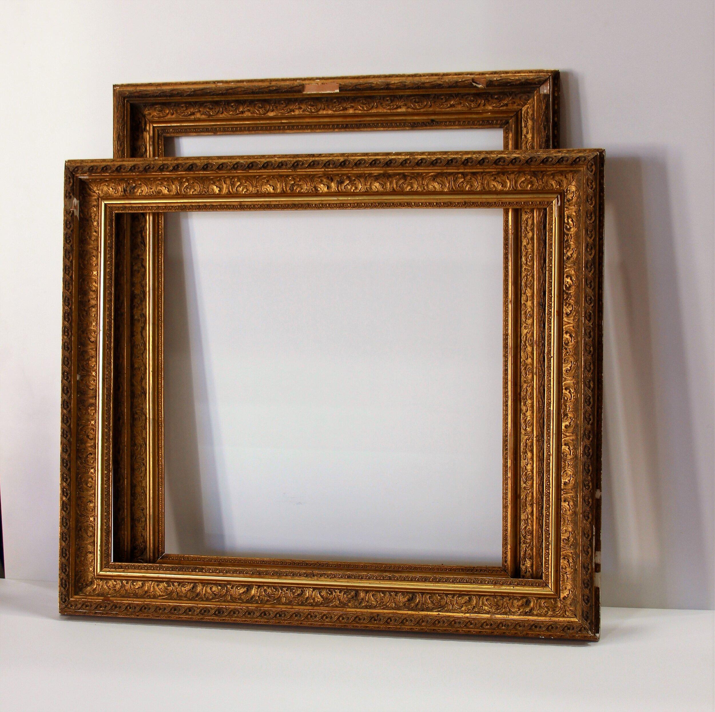 1890 S Ornate Victorian Gold Frames Ap00070 Custom Picture Framing Brisbane Artis Pura